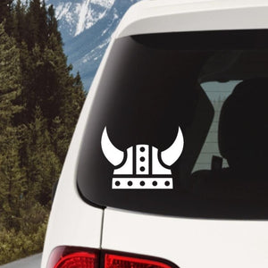Viking Helmet Vinyl Decal