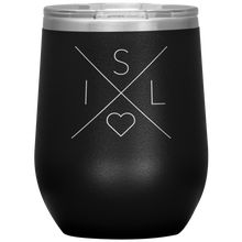 Load image into Gallery viewer, Iceland Love Wine Tumbler Black - Scandinavian Design Studio