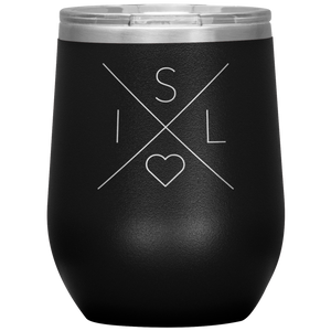 Iceland Love Wine Tumbler Black - Scandinavian Design Studio
