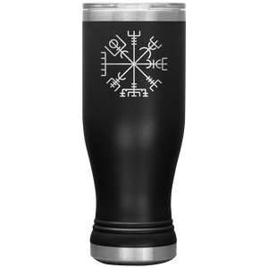 Viking Compass Insulated Tumbler Black - Scandinavian Design Studio