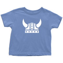 Load image into Gallery viewer, Viking Helmet Toddler Tee Toddler T-Shirt / Baby Blue / 2T - Scandinavian Design Studio