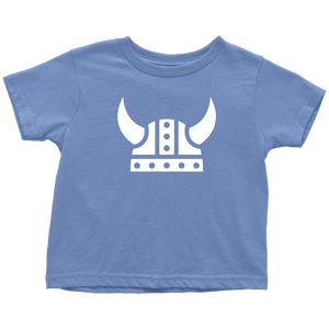 Viking Helmet Toddler Tee Toddler T-Shirt / Baby Blue / 2T - Scandinavian Design Studio