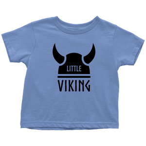 Little Viking Toddler Tee Toddler T-Shirt / Baby Blue / 2T - Scandinavian Design Studio