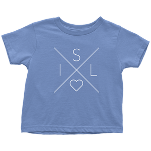 Iceland Love Toddler Tee Toddler T-Shirt / Baby Blue / 2T - Scandinavian Design Studio