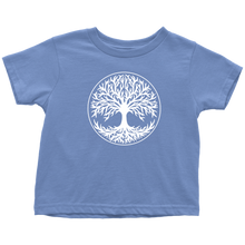 Load image into Gallery viewer, Tree Of Life Toddler Tee Toddler T-Shirt / Baby Blue / 2T - Scandinavian Design Studio