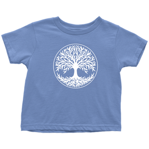 Tree Of Life Toddler Tee Toddler T-Shirt / Baby Blue / 2T - Scandinavian Design Studio