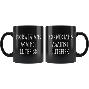 Norwegians Against Lutefisk Coffee Mug - Scandinavian Design Studio