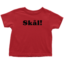 Load image into Gallery viewer, Skål Toddler Tee Toddler T-Shirt / Red / 2T - Scandinavian Design Studio