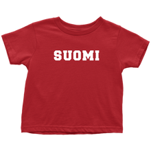 Load image into Gallery viewer, Suomi Toddler Tee Toddler T-Shirt / Red / 2T - Scandinavian Design Studio
