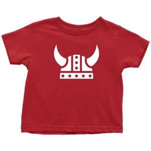 Viking Helmet Toddler Tee Toddler T-Shirt / Red / 2T - Scandinavian Design Studio