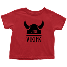 Load image into Gallery viewer, Little Viking Toddler Tee Toddler T-Shirt / Red / 2T - Scandinavian Design Studio