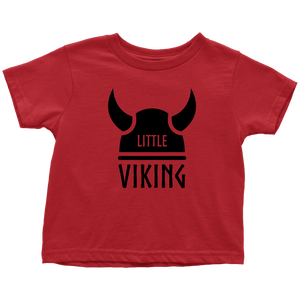 Little Viking Toddler Tee Toddler T-Shirt / Red / 2T - Scandinavian Design Studio