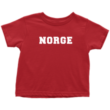 Load image into Gallery viewer, Norge Toddler Tee Toddler T-Shirt / Red / 2T - Scandinavian Design Studio