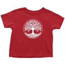 Load image into Gallery viewer, Tree Of Life Toddler Tee Toddler T-Shirt / Red / 2T - Scandinavian Design Studio