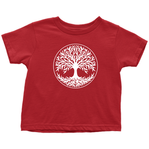 Tree Of Life Toddler Tee Toddler T-Shirt / Red / 2T - Scandinavian Design Studio