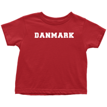 Load image into Gallery viewer, Danmark Toddler Tee Toddler T-Shirt / Red / 2T - Scandinavian Design Studio
