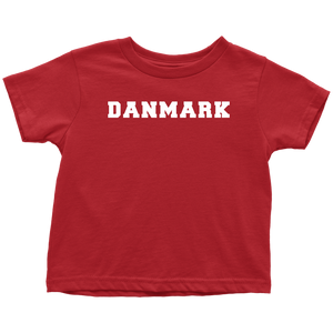 Danmark Toddler Tee Toddler T-Shirt / Red / 2T - Scandinavian Design Studio
