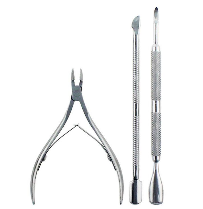 Cuticle Nipper with Cuticle Pusher- Professional Grade Stainless Steel Cuticle Remover and Cutter - Durable Manicure and Pedicure Tool