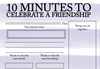 Celebrating Friendship Worksheet for Anxiety , Depression and other Mental Challenges