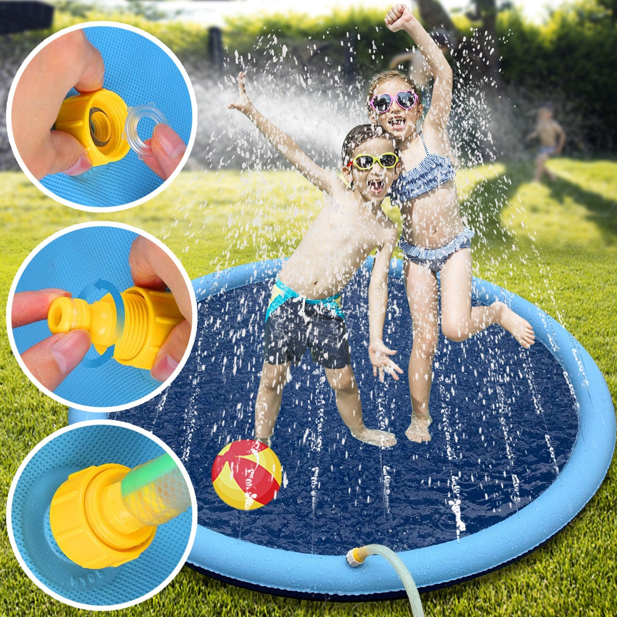 Water Play Mat and Sprinkler  - Stay Indoors Play and Summer Fun