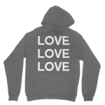 ALL YOU NEED IS LOVE BEATLES  HOODIE PEARLS AND BEES BOUTIQUE