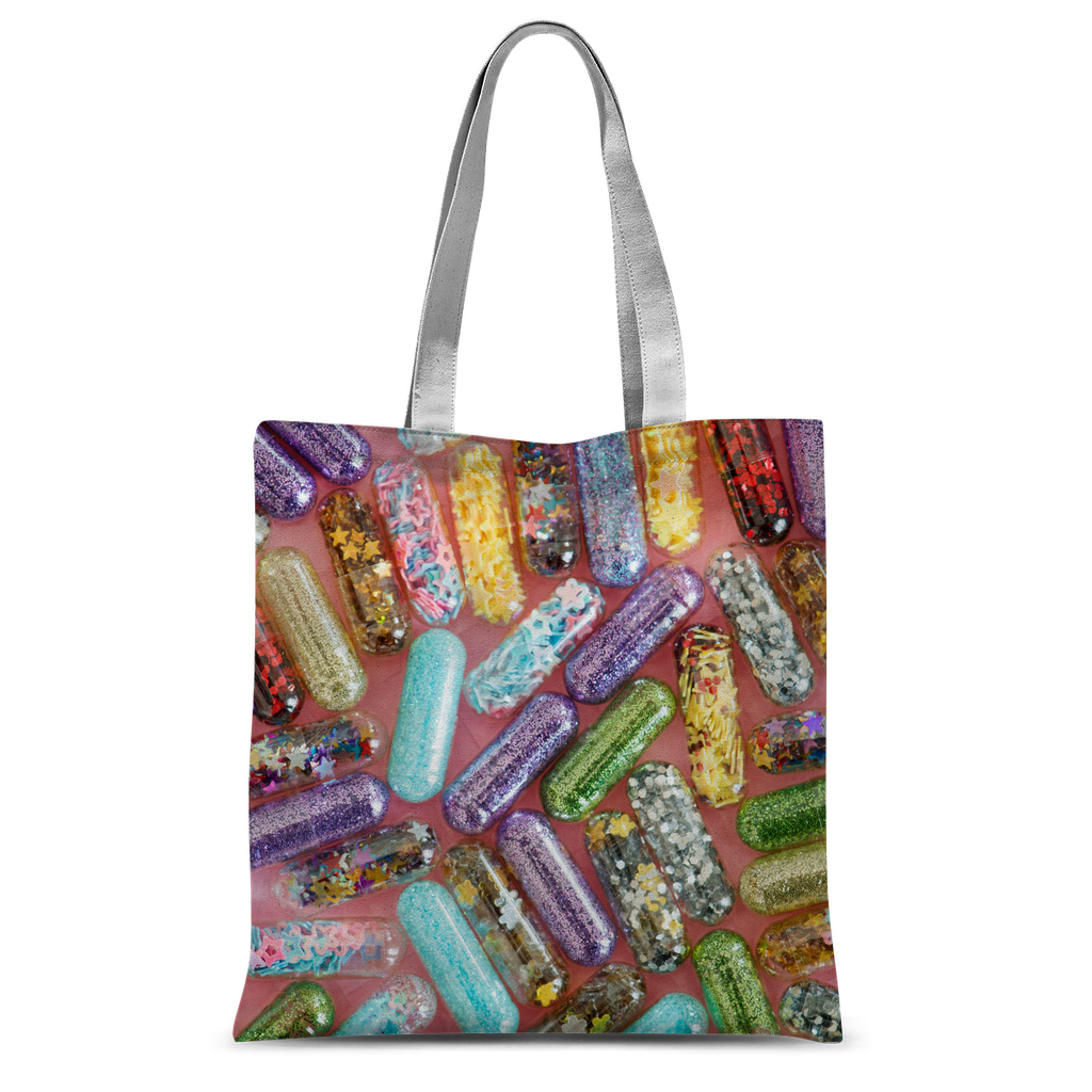 Happy Pills Gorgeous Colourful Tote Bag  For Turning Head and Happy Minds