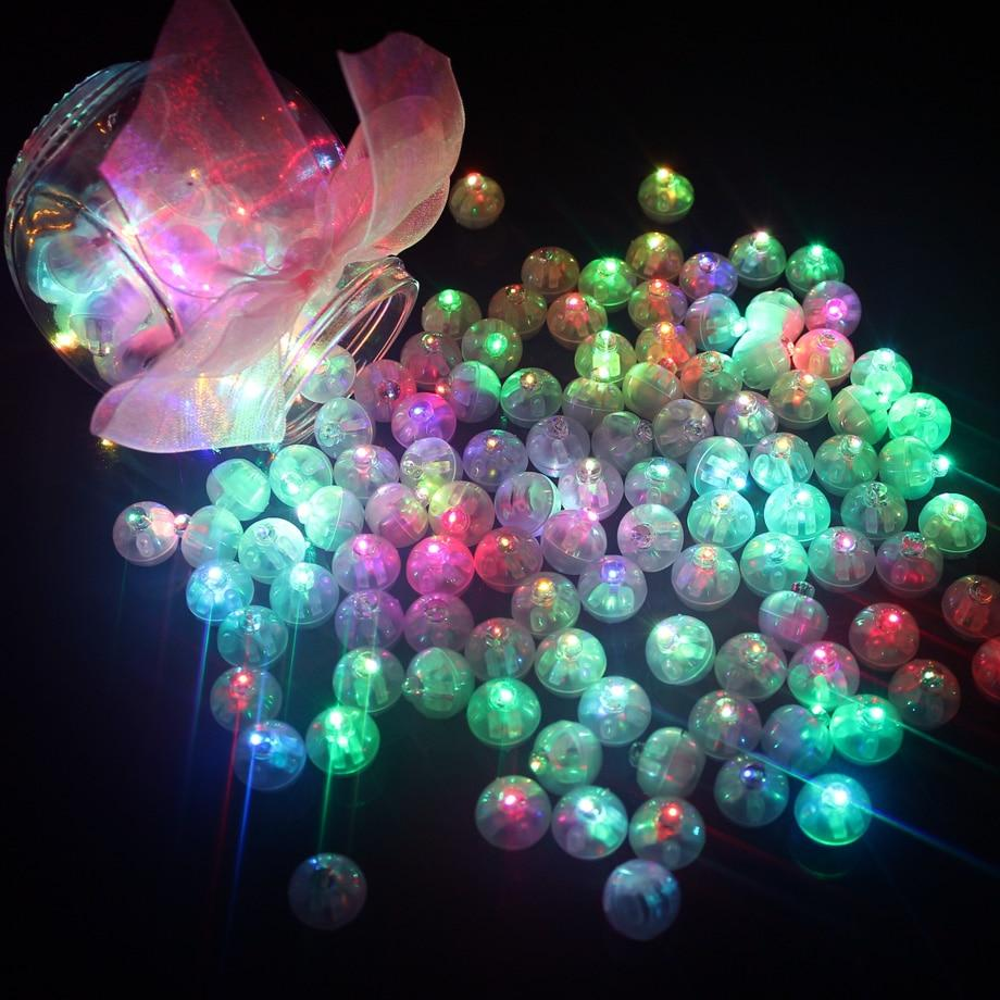 50Pcs/lot Round Ball Led Balloon Lights Mini Flash Lamps for Lantern Christmas Wedding Party Decoration