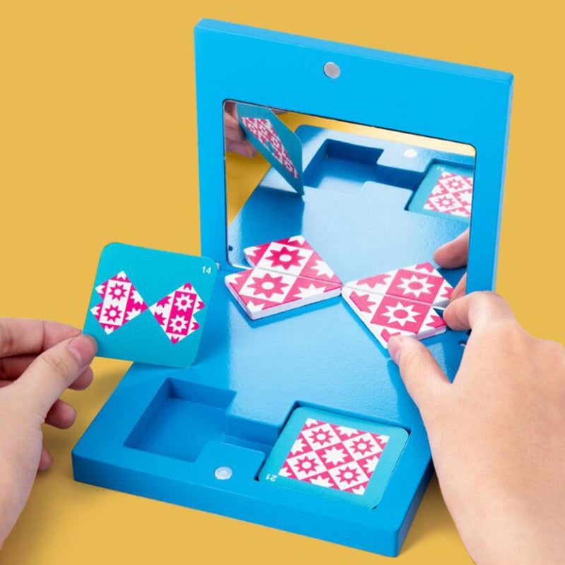 Mirror Imaging Puzzle Children Kids Education Sensory Toy  Didactic Learning