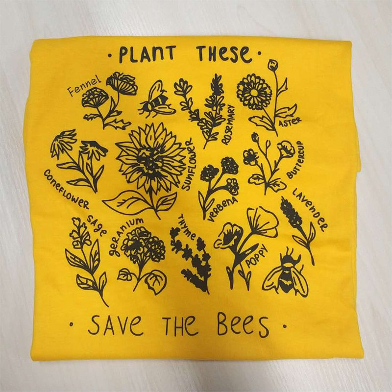 Plant These Save the Bees T-shirt  Unisex