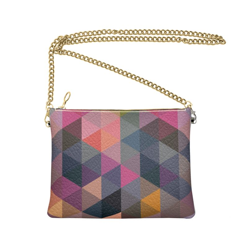 The Lulu Cross Body Bag - Geo Nights - Nappa Leather or Vegan Leather