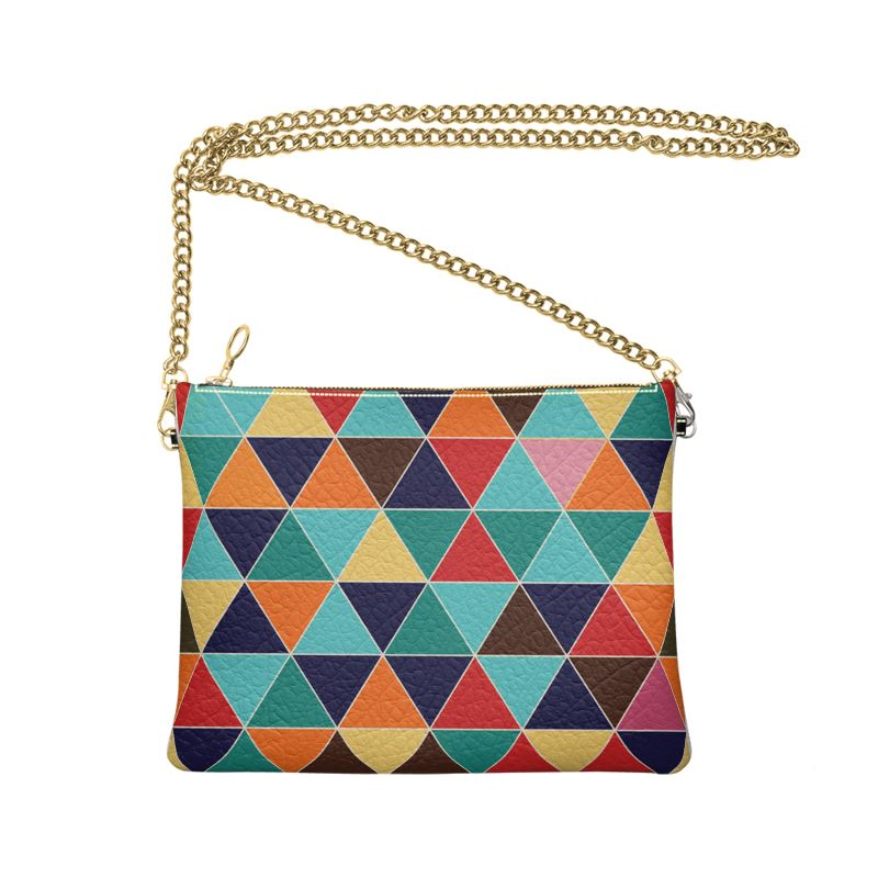 The Lulu Cross Body Bag - Pyramid Splash  - Nappa Leather or Vegan Leather