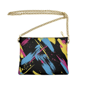 The Lulu Cross Body Bag - 80's Dance Studio - Nappa Leather or Vegan Leather