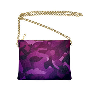 The Lulu Cross Body Bag - Purple Camo - Nappa Leather or Vegan Leather