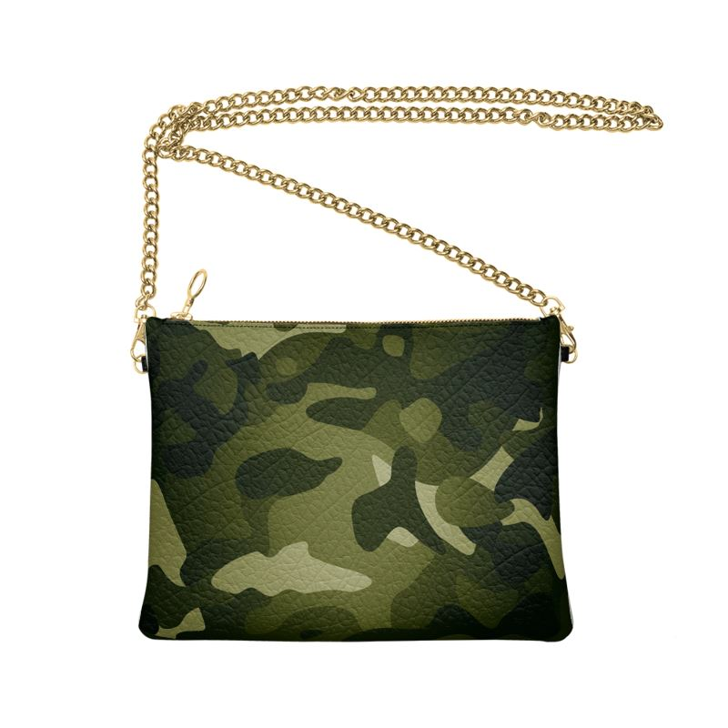 The Lulu Cross Body Bag - Green Camo - Nappa Leather or Vegan Leather
