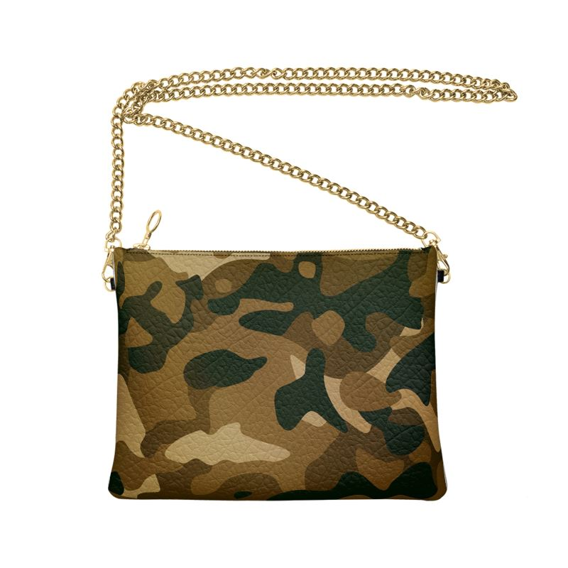 The Lulu Cross Body Bag - Brown Camo - Nappa Leather or Vegan Leather