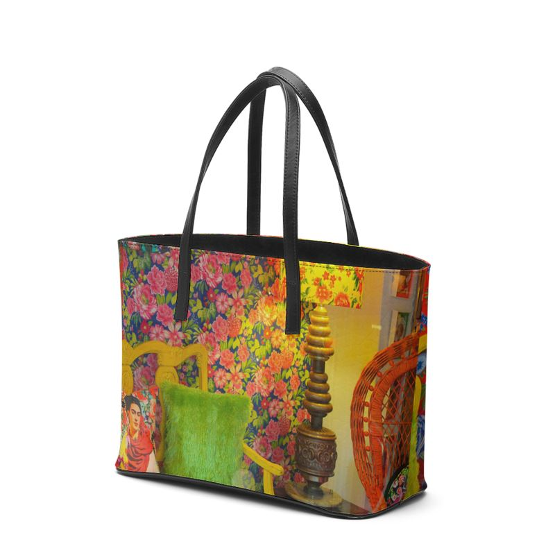 Frida Kahlo Leather or Vegan Leather Tote Bag