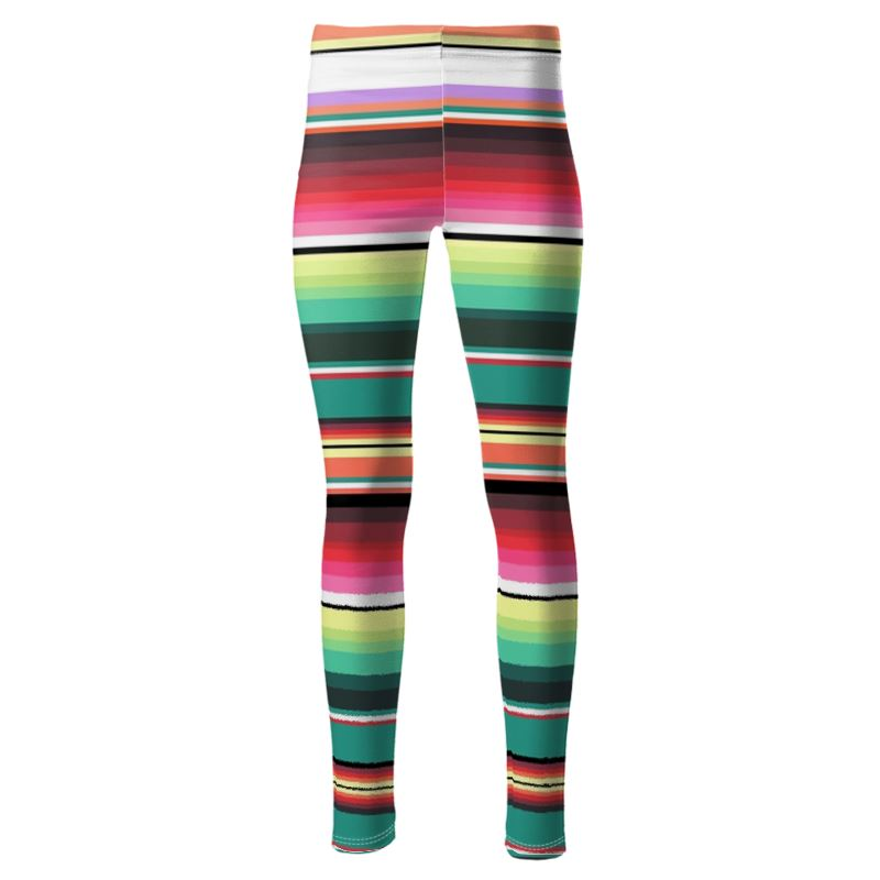 High Waisted High Quality Stripe Leggings For Exercise and Running