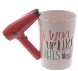 Creative Ceramic Hair Dryer Mug Ladies Tool Hair Dryer C Hair Salon Bathroom Decor Vanity Decor Coffee Cup Hairdresser Gift