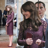 Kate Middleton Lace Burgundy Dress Replica