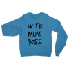 WMB Black WIFE MUM BOSS SWEATSHIRT