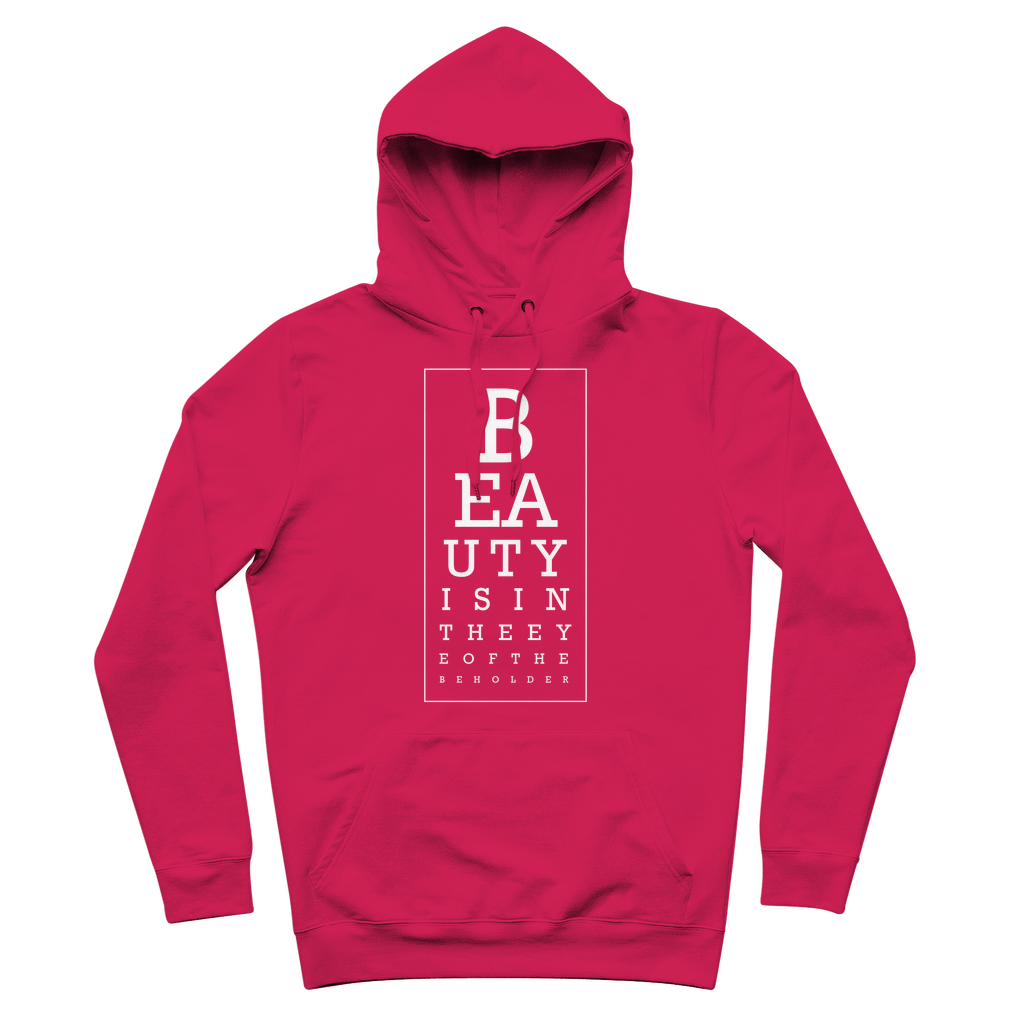 Beauty is in Eye of the Beholder Adult Hoodie (Pink)