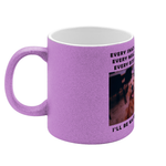Personalised Pet Mug - Glitter Pink or Glitter Blue