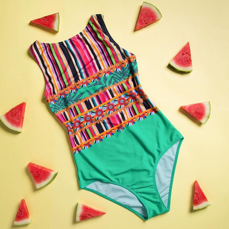 Designer Retro Style Swim Suits
