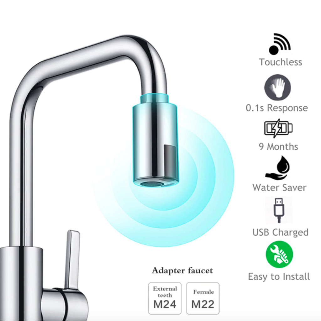 Smart Faucet Water Saving Sensor - Great for Smart Meters and for Environmental concerns