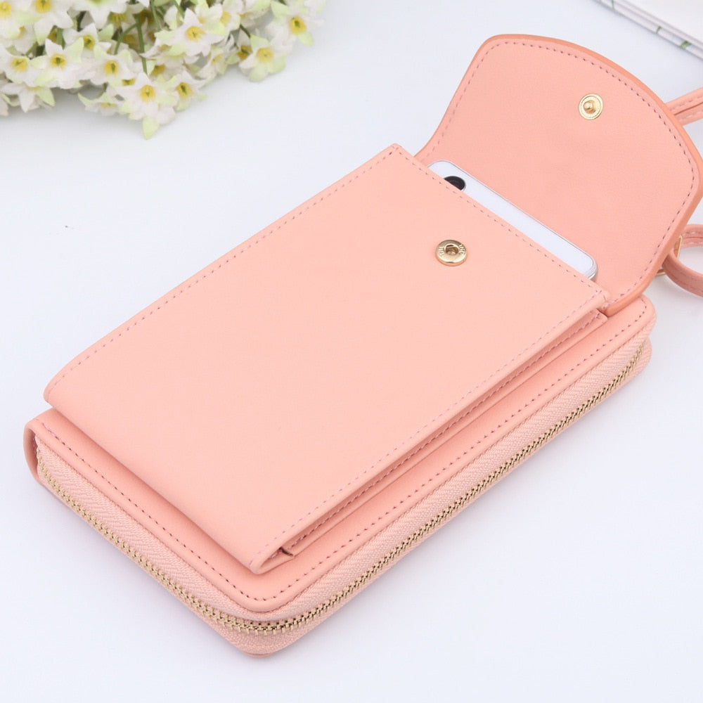 2020 New Women Long Wallet Shoulder Bag Female Wallets Clutch Lady Purse Zipper Phone Pocket Card Holder Ladies Carteras