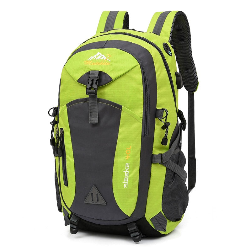40L Unisex Waterproof Backpack Anti-Theft with USB Power Supply