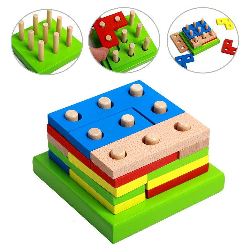 Early Educational Wooden Geometric Sorting Toys