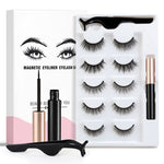 5Pairs 3D Magnetic Eyeliner Liquid False Eyelashes Set Natural/Thick Long Eye Lashes Makeup Lashes Extension Tools Maquillaje
