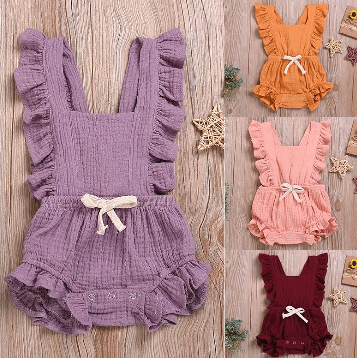 Luxury Summer Ruffles Baby Jump Suit