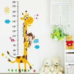 Children Height Growth Chart Measure Wall Sticker